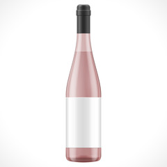 Pink Red Brown Glass Wine Cider Bottle