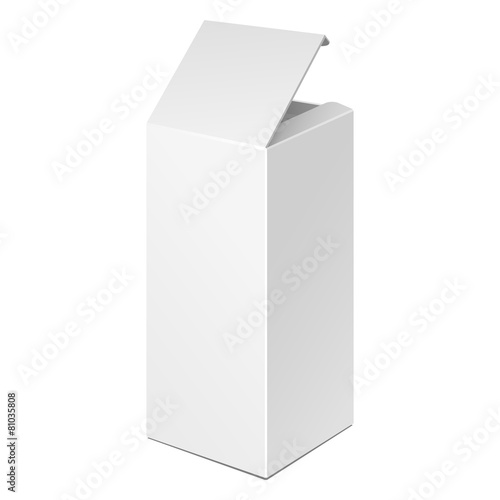 Opened Tall White Product Box