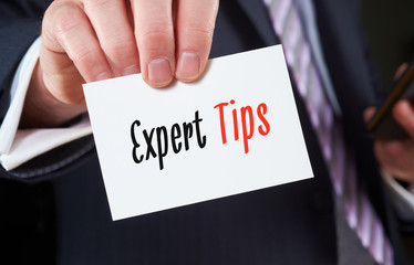 Expert Tips, Advice Concept.
