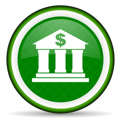 bank green icon