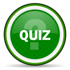 quiz green icon