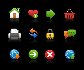 Web Site Icon Set - Black Background