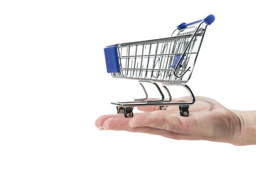 Shopping cart and hand
