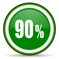 90 percent green icon sale sign