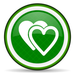 love green icon sign hearts symbol