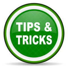 tips tricks green icon