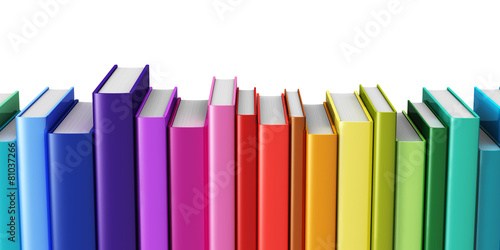 Leinwanddruck Bild Color hardcover books