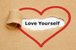 Love Yourself Torn Paper - 81037612