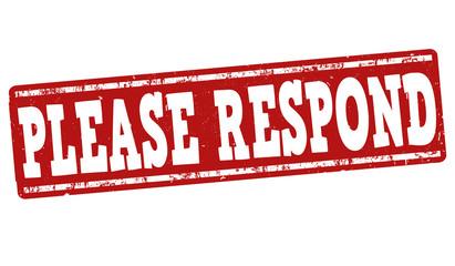Please Respond stamp