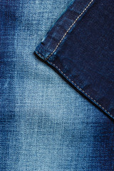 closeup detail of blue denim
