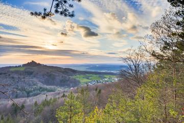 Spring Sunset Landscape