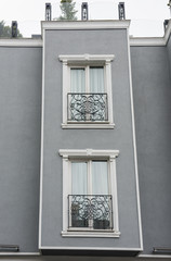 Exterior detail of apartment architecture