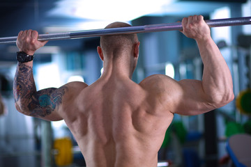 training equipment on sport gym