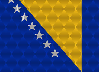 bosnia and herzegovina low poly flag