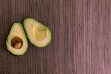 Split avocado