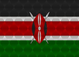 kenya low poly flag