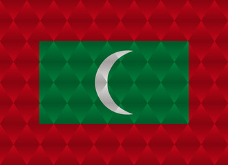 maldives low poly flag