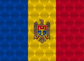 moldova low poly flag