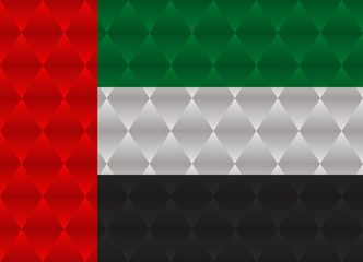united arab emirates low poly flag