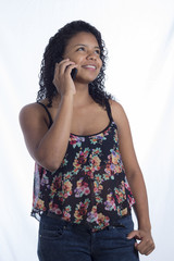 chica latina celular
