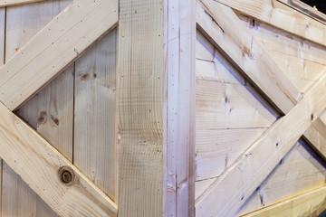 corner of wooden box