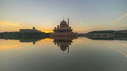 Sunrise At Putra Mosque, Putrajaya Malaysia