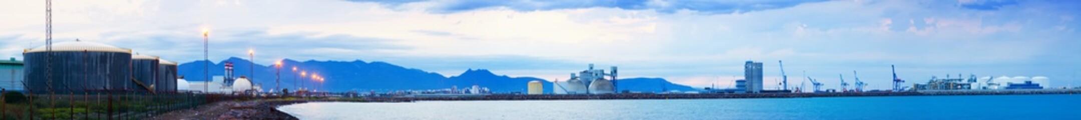 industrial zone on  Mediterranean coast. Castellon de la Plana