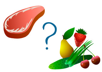 The choice between meat and vegetarianism