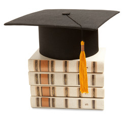 Gortarboard and book