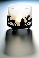 beautifully decorated candlestick for small candles