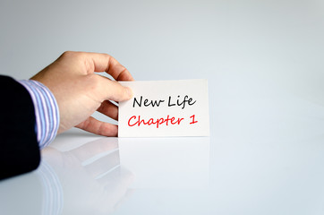 Text concept New life chapter 1