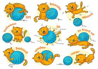 Prepositions of Place, Colorful Cartoon