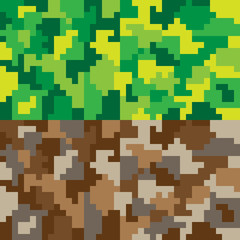 pattern pixel art camouflage green brown