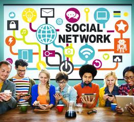 Social Network Internet Online Society Connecting Social Media C