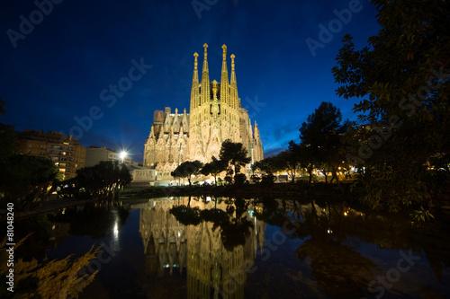 Leinwandbild Motiv Sagrada Familia, Barcelona