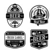 Black monochrome beer labels of different shapes. Vector - 81048653