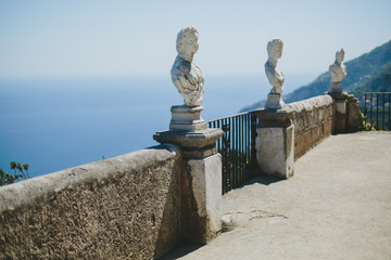 Ancient statues Ravello Italy