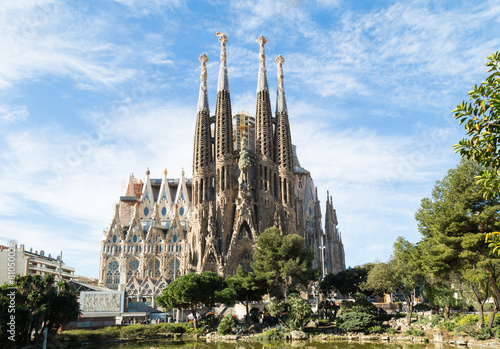 Leinwanddruck Bild Sagrada Familia in Barcelona, Spain