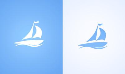 Sailboat on ocean wave