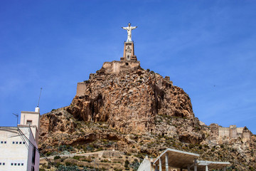statue of Christ the large rock, Spain