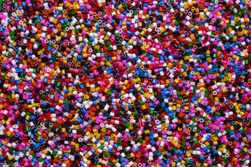 Color plastic granules