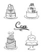 Set of design elements -- cakes - 81052222