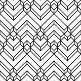 Abstract White & Black Light Chevron Geometric Pattern poster