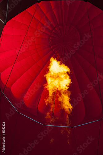 Foto op Aluminium Ballon Inside in hot air balloon
