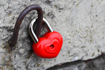 heart lock concept of love