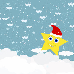 Star heaven Christmas background