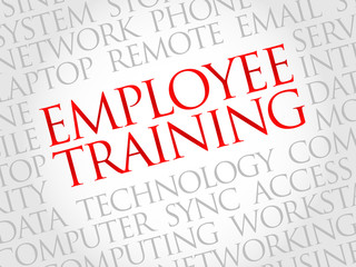 Employee Training word cloud concept