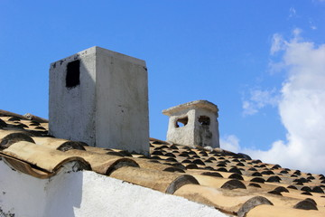 Greek Roof and Chimney Pots