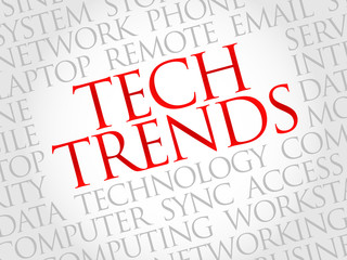 Tech Trends word cloud concept