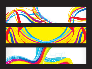 abstract artistic colorful web banners